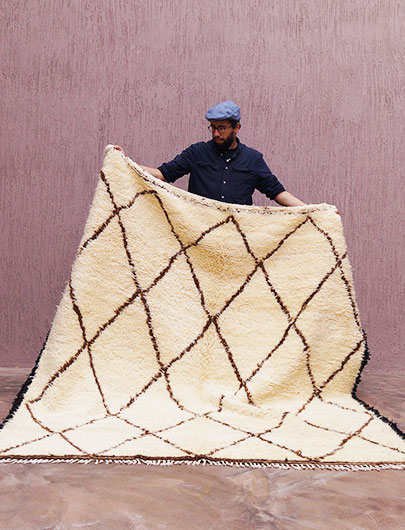 Traditional Beni Ourain rug