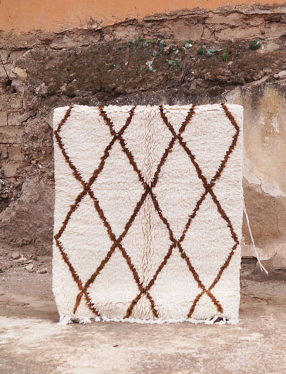 Beni Ouarain pile rug, north eastern Middle Atlas